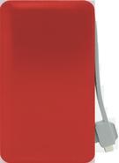 FOUR ULTRA SLIM POWER BANK T11 6000mAh,  red