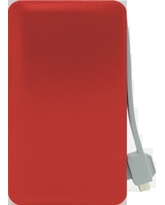 FOUR ULTRA SLIM POWER BANK T11 6000mAh,  red