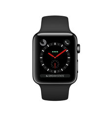 APPLE WATCH SERIES 3 42MM GPS CELLULAR SPACE BLACK STAINLESS STEEL BLACK SPORT BAND