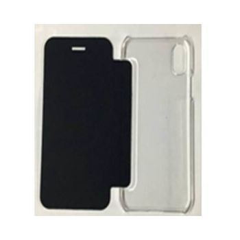 FOUR MOBILE S610 FLIP CASE WITH TEMPERED SP FCT03,  black