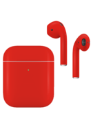 APPLE AIRPODS SECOND GEN WIRELESS PAINTED SPECIAL EDITION, matte,  ferrari red