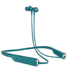 SWITCH NECKBAND BLUETOOTH HEADSET WITH MAGNETIC EARBUDS, FLEXIBLE NECKBAND AND MIC,  teal