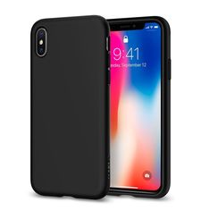 SPIGEN IPHONE X BACK CASE LIQUID CRYSTAL,  black