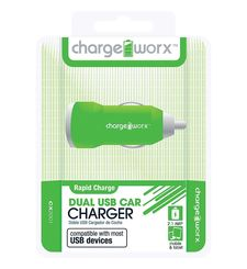 CHARGE WORX DUAL USB CAR CHARGER 2.1A,  pink