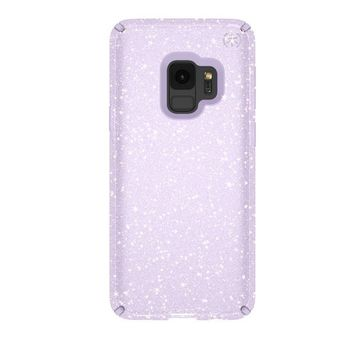 SPECK PRESIDO CLEAR GALAXY S9 BACK CASE WITH GOLD GLITTER GERODE PURPLE