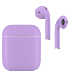 APPLE AIRPODS SECOND GEN WIRED PAINTED SPECIAL EDITION,  lavender, matte