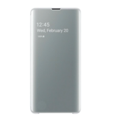SAMSUNG GALAXY S10 PLUS BACK CASE CLEARVIEW COVER,  white