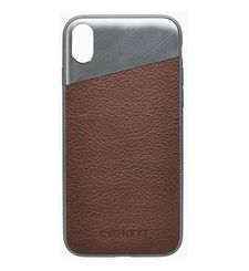 CYGNETT IPHONE X LEATHER CASE,  brown