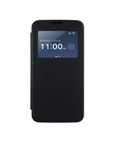 S5 S VIEW FLIP COVER LAMBSKIN,  black