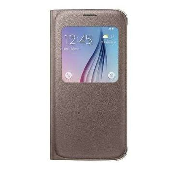 SAMSUNG GALAXY S6 LEATHER SVIEW,  gold