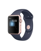APPLE WATCH SERIES 2 ROSE GOLD ALUMINUM CASE WITH MIDNIGHT BLUE SPORT BAND MNPL2AE/A