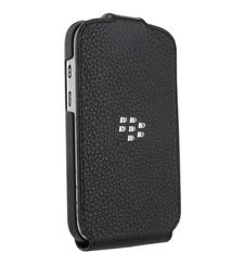 BLACKBERRY Q5 LEATHER FLIP SHELL,  black