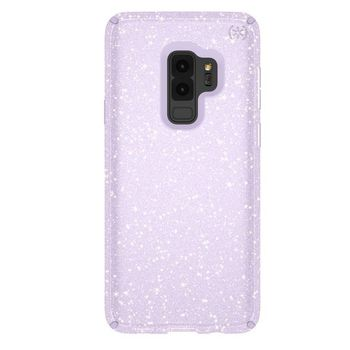 SPECK PRESIDO CLEAR GALAXY S9 PLUS BACK CASE WITH GOLD GLITTER GERODE PURPLE