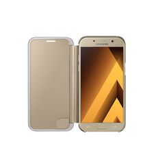 SAMSUNG GALAXY A5 2017 CLEAR VIEW COVER,  gold