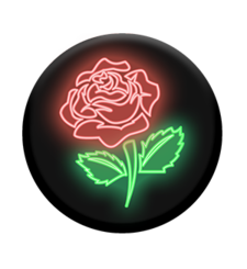 POPSOCKETS MOBILE STAND SINGLE,  neon rose