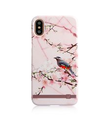 UUNIQUE IPHONE X BACK CASE MARBLE BLOSSOM,  pink