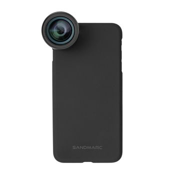 SANDMARC IPHONE X WIDE LENS WITH VERSATILE MOUNTING SYSTEM,  black