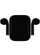 APPLE AIRPODS PAINTED SPECIAL EDITION, matte,  black