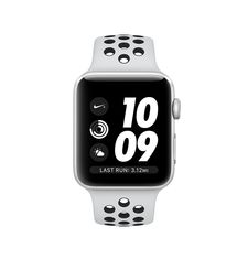 APPLE SERIES 3 SMART WATCH - NIKE 38MM SILVER ALUMINIUM CASE WITH PURE PLATINUM/BLACK NIKE SPORT BAND, MQKX2,  platinum