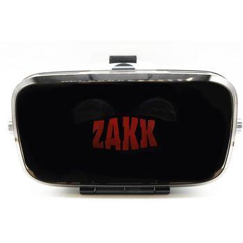 ZAKK ORBIT 3D VIRTUAL REALITY HEADSET WITH IN BUILT HEADPHONES,  white