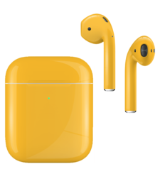 APPLE AIRPODS SECOND GEN WIRELESS PAINTED SPECIAL EDITION, gloss,  lamborghini