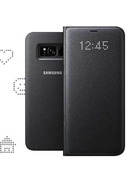 SAMSUNG GALAXY S8 LED VIEW COVER,  black