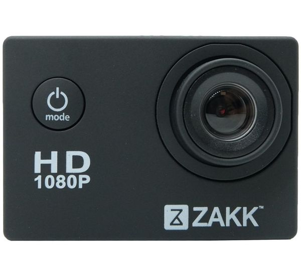 ZAKK ACTION CAMERA 1080P FULL HD WATERPROOF 30M, black
