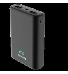 MYCANDY 10000MAH DUAL USB 2.1 A FAST CHARGE POWER BANK,  black