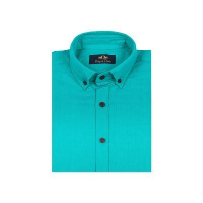 LINOR - AQUA, green, s, cotton linen