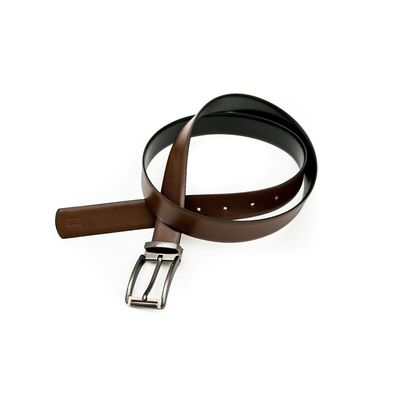 FAUSTINO REVERSIBLE, black  brown, leather