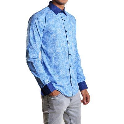 Blue Lucien, m, premium cotton, blue