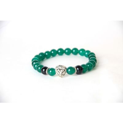 FIFTY SHADES OF LION, green, semi precious stones