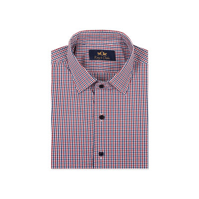 SIERRA BEUNOS, red blue, m, premium cotton