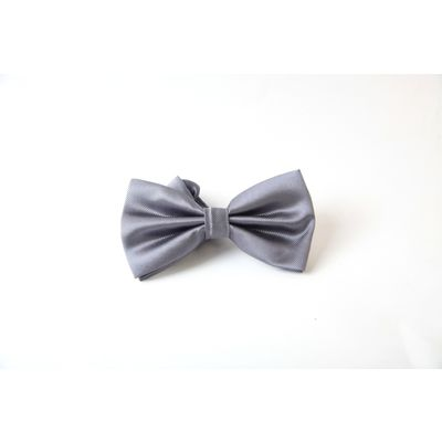 SILVER GREY BOW, silver, cloth