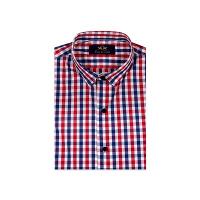 The French Check, s, cotton, white - red - blue