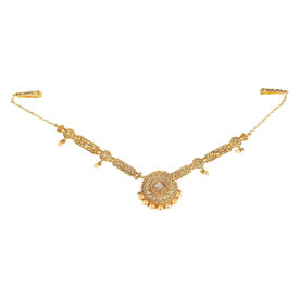 Pink Rose - Complement Collection Gold Alloy Pearl Stone Princess Charm Waistband Cum Necklace For Women, 65, gold, alloy