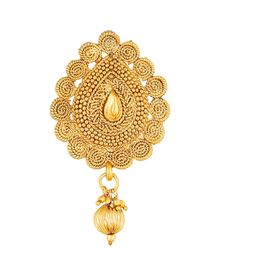 Pink Rose - Complement Collection Gold Alloy Princess Charm Sari Pin For Women, 7, gold, alloy