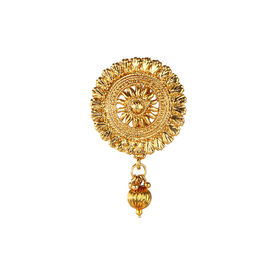 Pink Rose - Complement Collection Gold Alloy Charm Hair Pin For Women (Juda Pin Cum Pasha), 5, gold, alloy