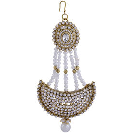 Pink Rose - Complement Collection Gold White Pearl Alloy Stones Princess Charm Bridal Hair Pasha For Women