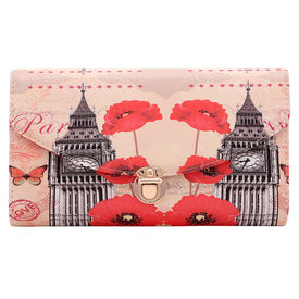 Pink Rose - Cool Collection Multicolour Printed Charm Sling Bag