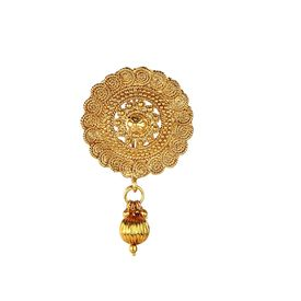 Pink Rose - Complement Collection Gold Alloy Princess Charm Sari Pin For Women, 5, gold, alloy