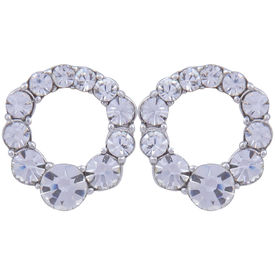 Pink Rose - Complement Collection White Alloy Princess Delight Studs For Women