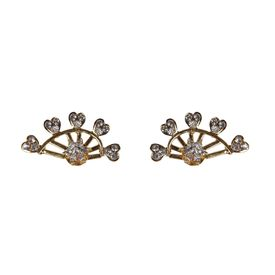Pink Rose - Complement Collection Golden Metal Princess Delight Studs For Women