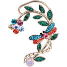 Pink Rose - Complement Collection Multicolour Stone Alloy Princess Charm Earcuff For Women (Left Ear)