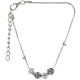 Pink Rose - Complement Collection Silver Stone Alloy Princess Charm Anklet For Women