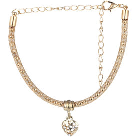 Pink Rose - Complement Collection Gold Alloy Princess Heart Anklet For Women