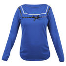 Pink Rose Women Full Sleeves Blue Top, m, cotton, dark blue