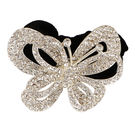 Pink Rose - Princess Collection White Alloy Stone Butterfly Hair Band For Women/Girls, alloy, 5, white
