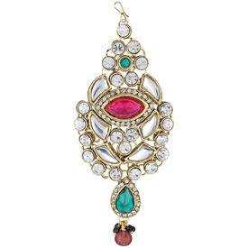 Pink Rose - Complement Collection Maroon Green Stone Alloy Princess Charm Pasha For Women