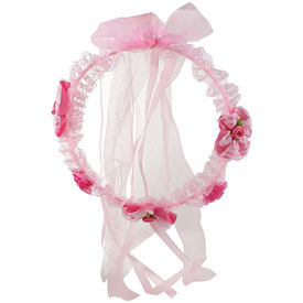 Pink Rose - Complement Collection Pink Fabric Princess Charm Hair Tiara For Women (Head Gear)